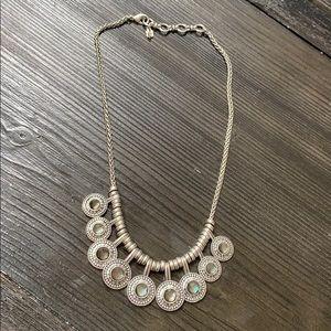 "Lucky brand boho silver necklace 8"""